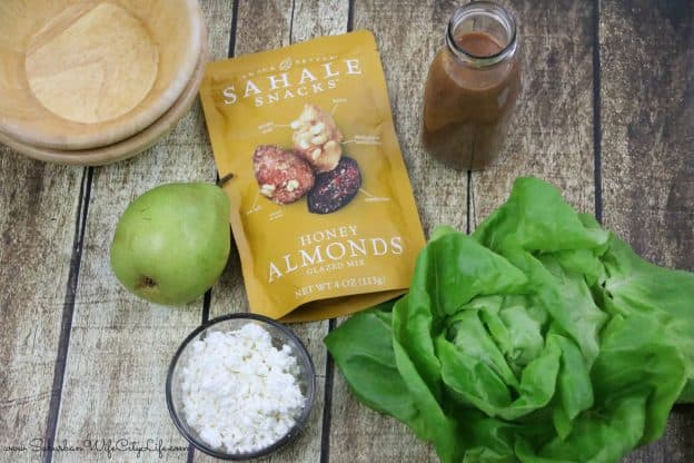 Ingredients Pear & Goat Cheese salad