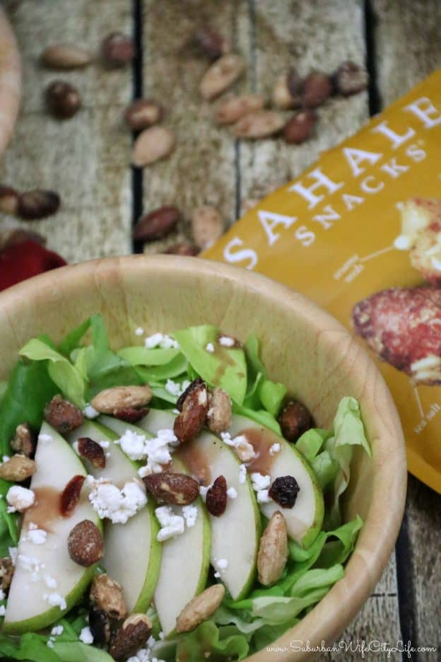 Sahale Snacks, Pear and Goat Cheese Salad