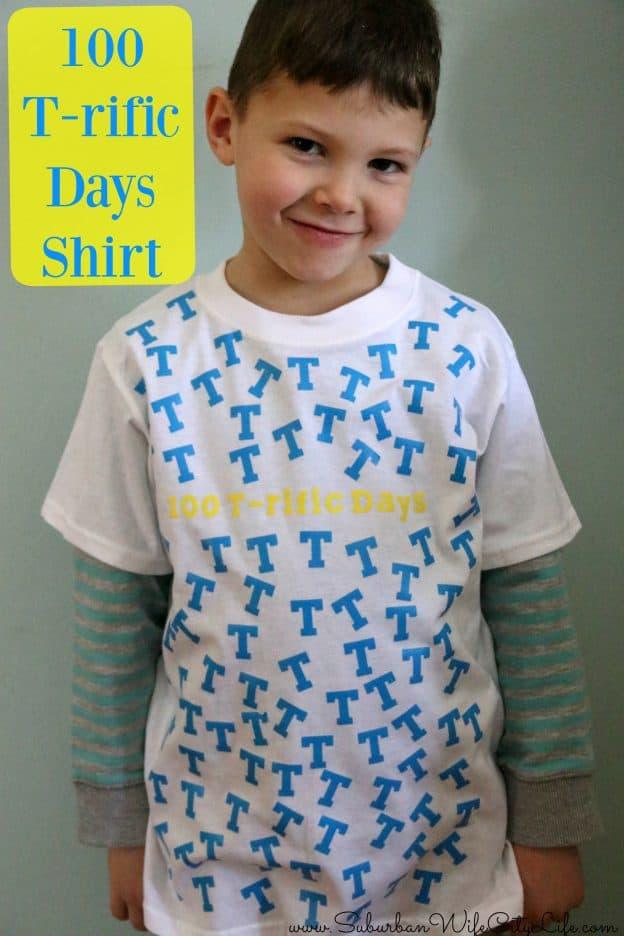 100 T-rific Days of school Shirt #CricutMade