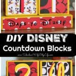Disney Countdown Blocks DIY