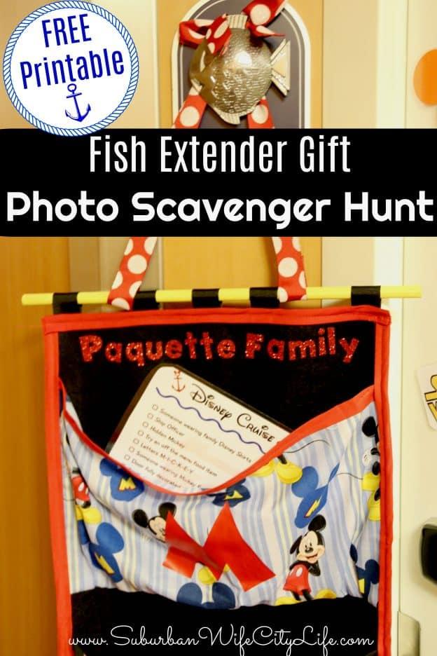 Fish Extender Gift Photo Scavenger Hunt Free Printable
