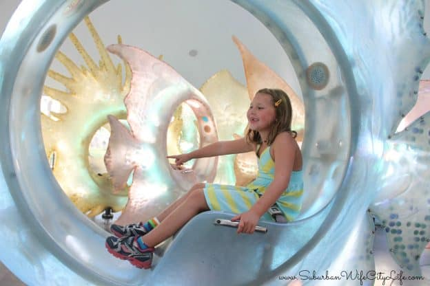 Seaglass Carousel goes up, down and around NYC