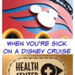 When you're sick on a Disney Cruise
