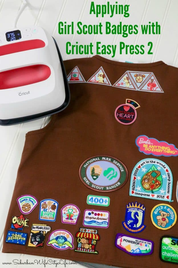 Applying Girl Scout Badges with Cricut Easy Press 2
