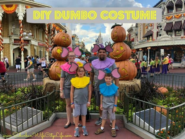 DIY Dumbo Costume is a great Group Costume for the family