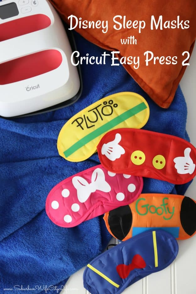 Disney Sleep Masks with Cricut Easy Press 2 #CricutMade #Cricut #ad