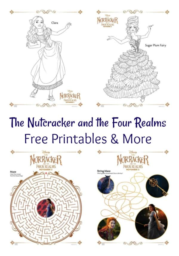 THE NUTCRACKER AND THE FOUR REALMS – Free printables and more