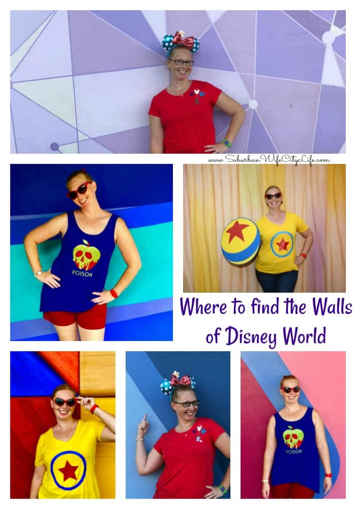 Where to find the Walls of Disney at Disney World