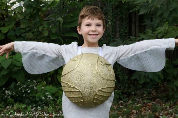 DIY Golden Snitch Costume