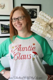 Auntie Claus shirt with Cricut