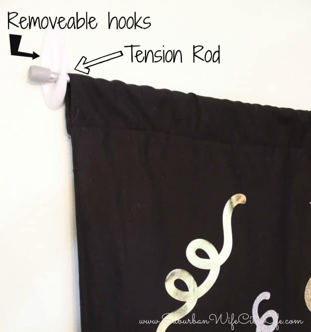 How to hang a backdrop