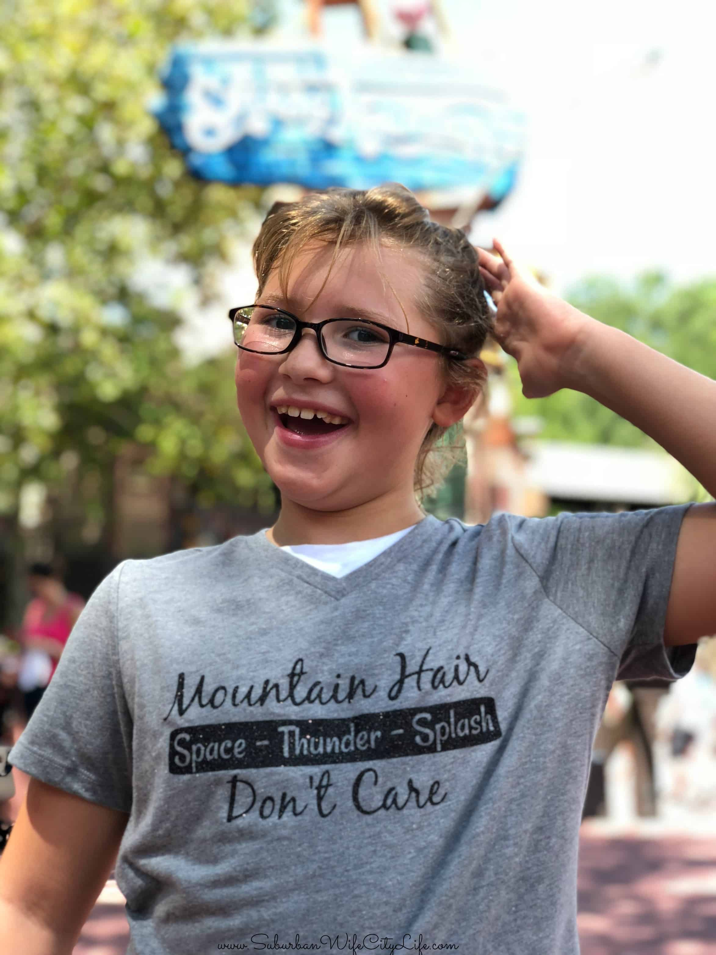 Mountain Hair Don't Care Shirt- Disney World