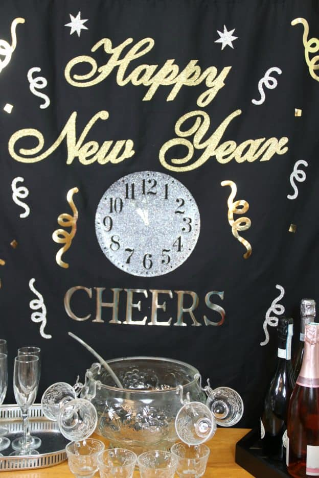 New Year's Eve backdrop