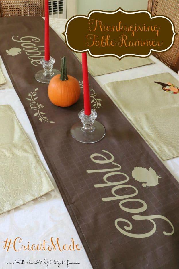 Thanksgiving Table Runner #CricutMade