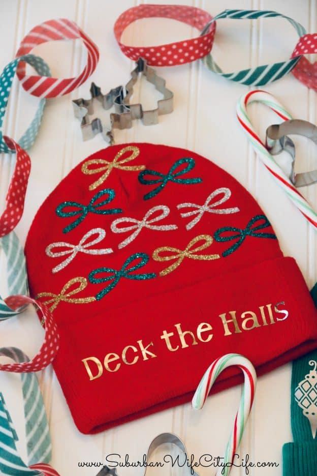 Deck the Halls Ugly Christmas Hat #CricutMade