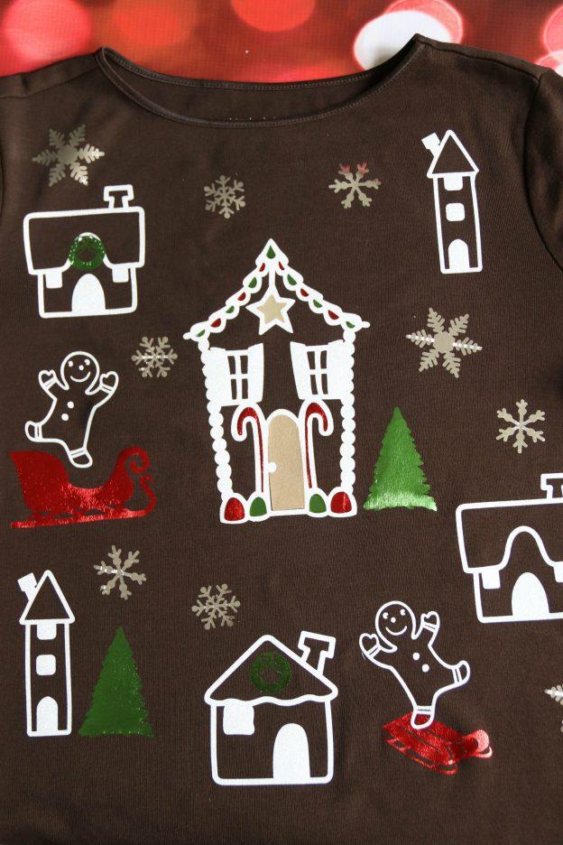 Ugly Christmas shirt DIY