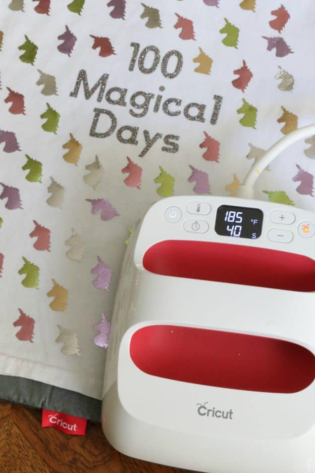 100 magical days shirt with Cricut EasyPress2 #CricutMade