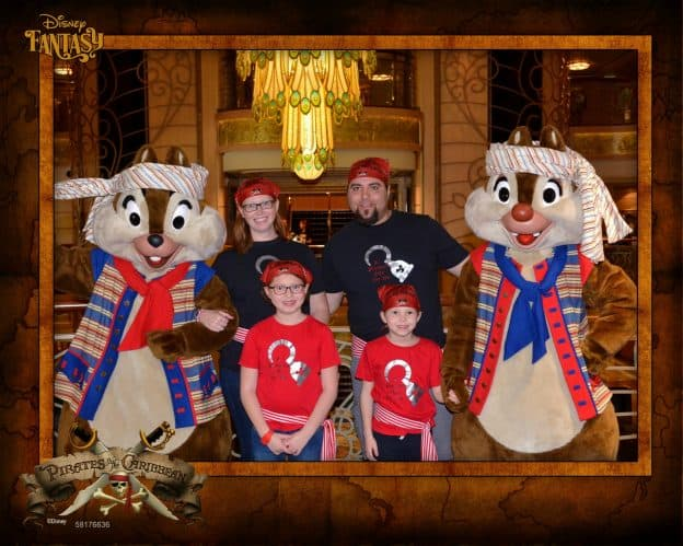 Disney Cruise Pirate Night with Chip and Dale