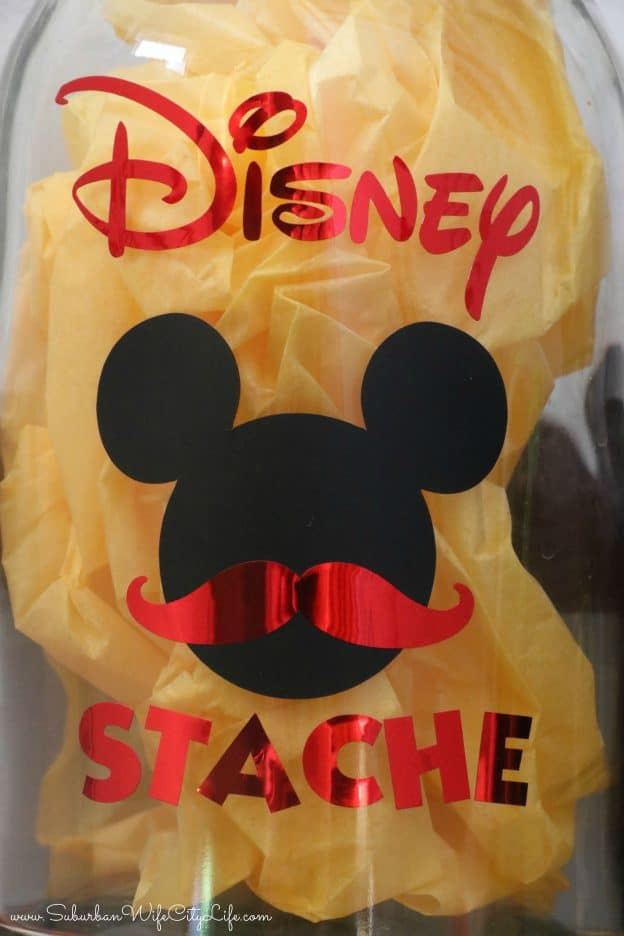 Disney Stache Fund DIY #CricutMade
