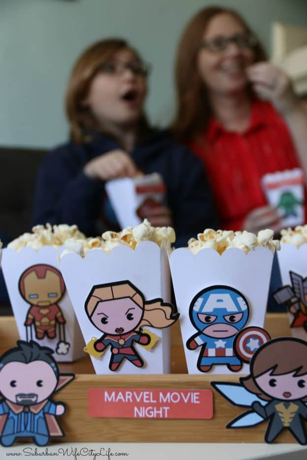 Marvel Movie Popcorn Boxes