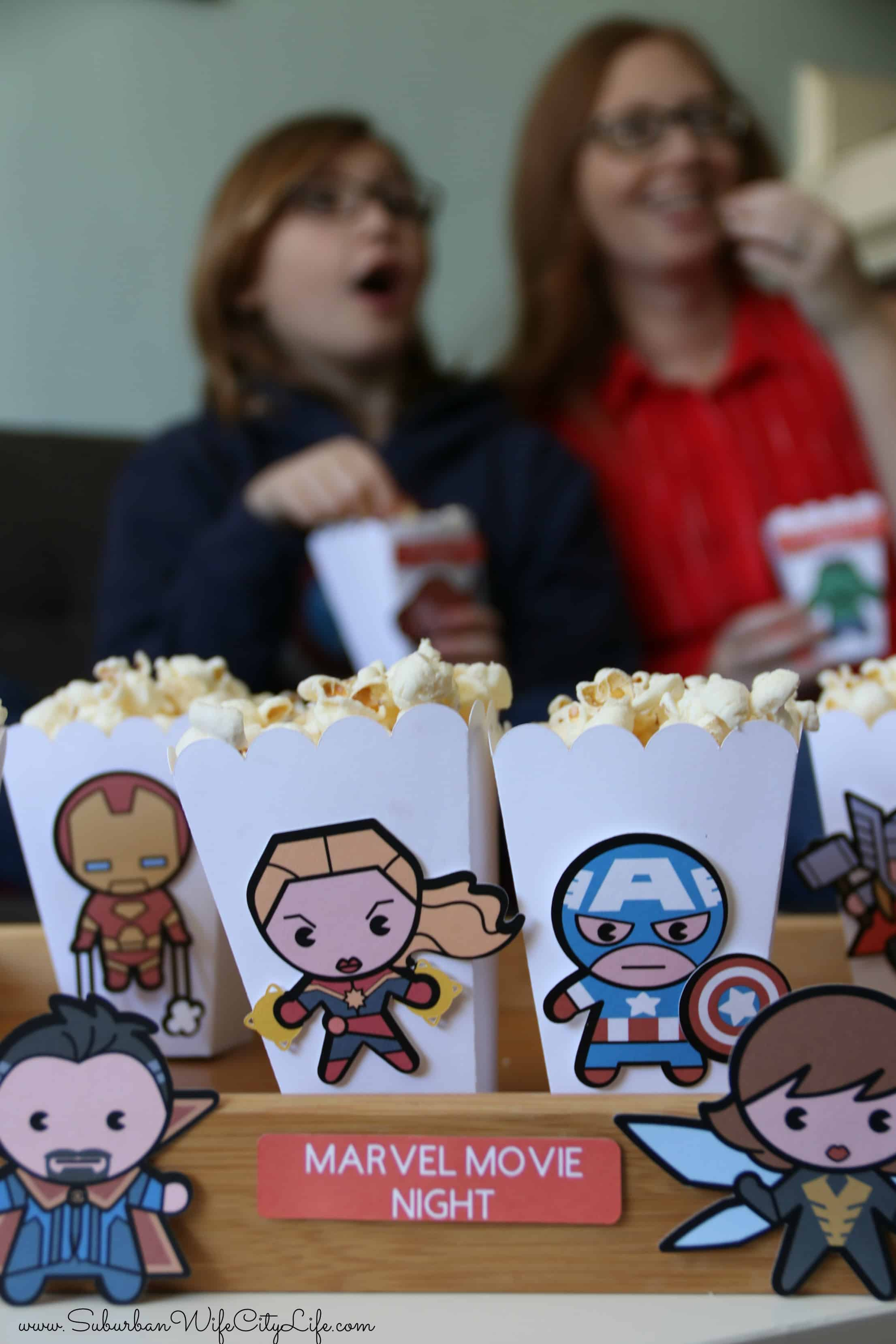 Marvel Movie Night Popcorn Boxes