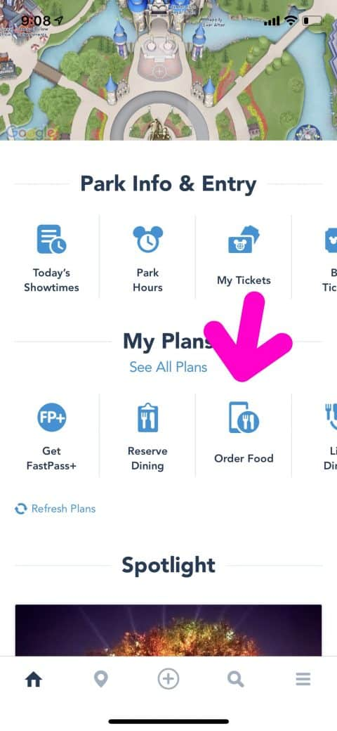How to use Mobile ordering at Disney