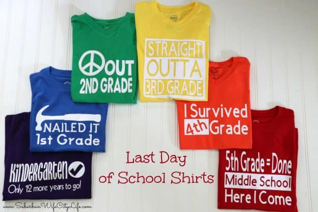 Last Day of School Shirts