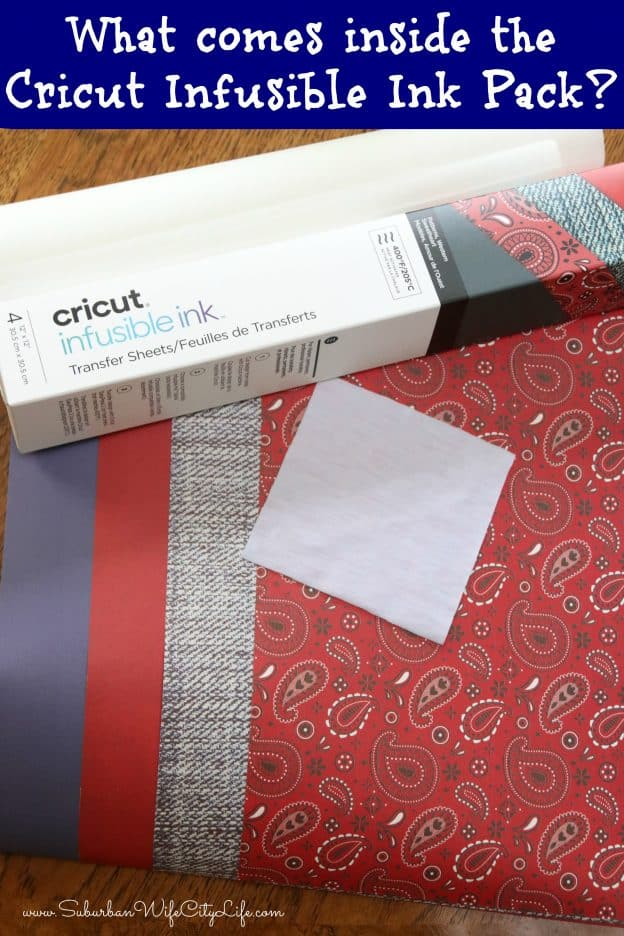 What comes inside the Cricut Infusible Ink Pack