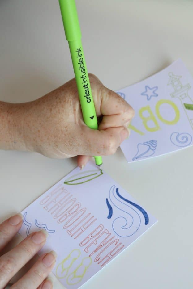 Cricut Infusible Ink Pens allow you to color in