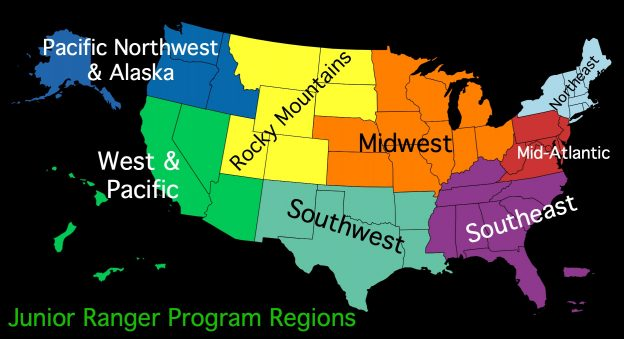 Junior Ranger Program Regions