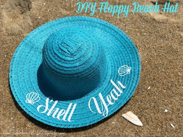 Shell Yeah DIY beach hat with Cricut