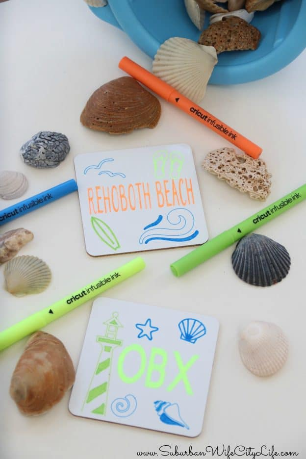 Vacation Memories Cricut Infusible Ink Coasters
