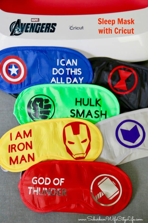 Avengers Sleep Mask Cricut