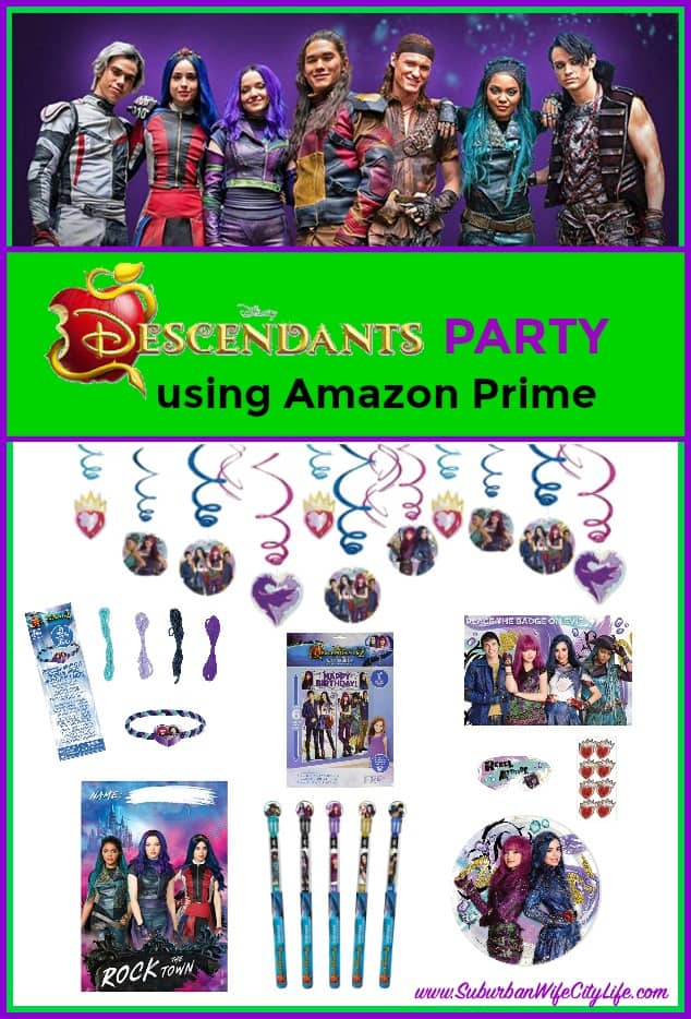 Disney's Descendants Party using Amazon Prime