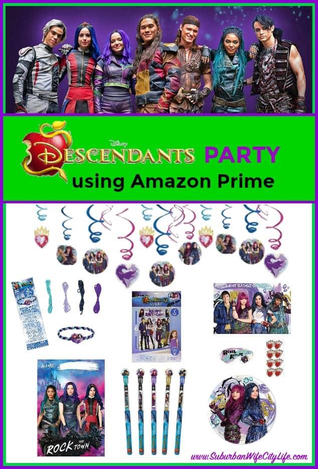 Descendants Party using Amazon Prime