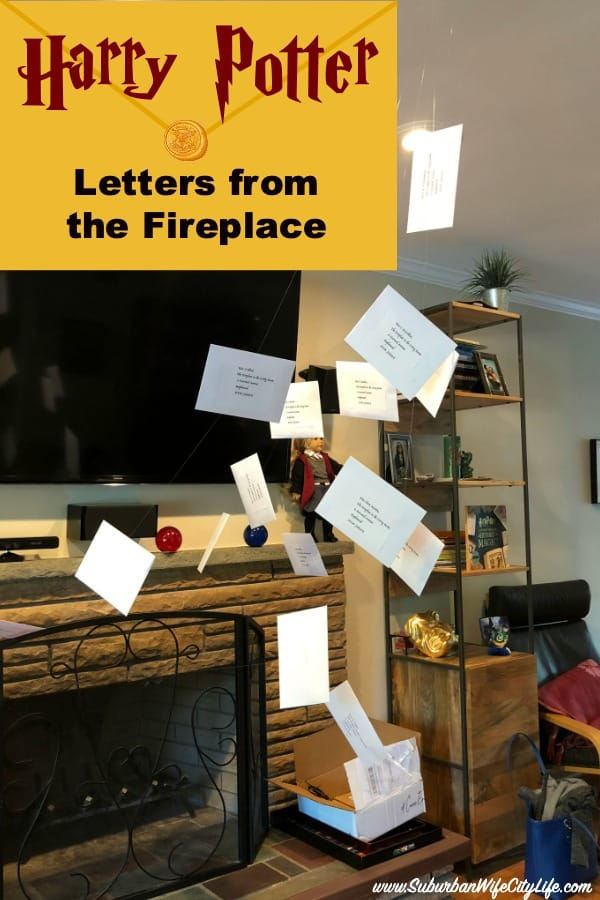Harry Potter Party Letters from the Fireplace