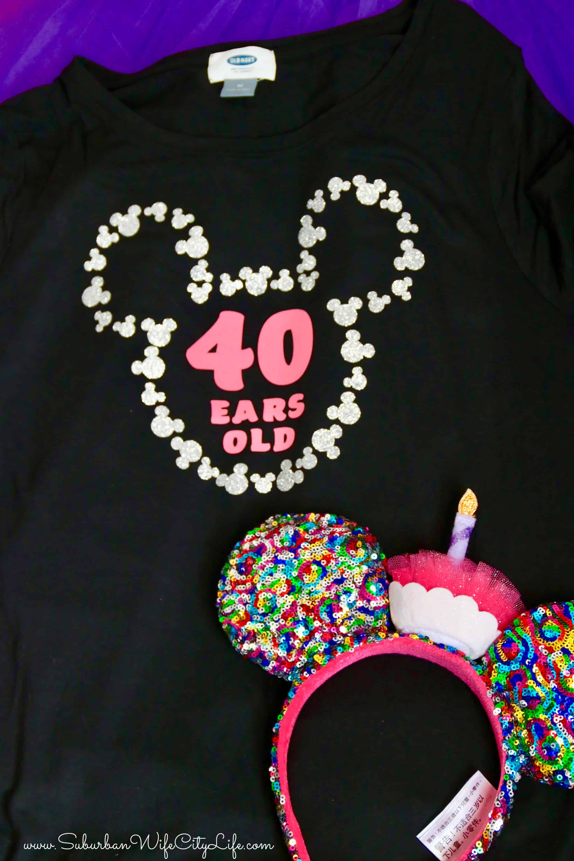 40 Ears Old Shirt Made With Cricut