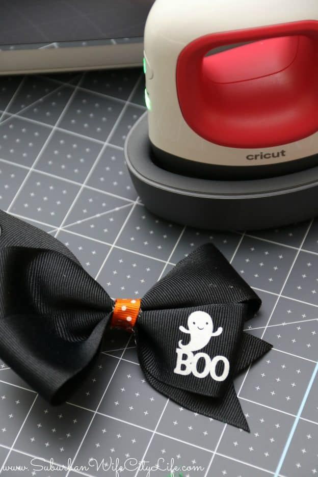 Halloween Hair bow with Cricut Minipress