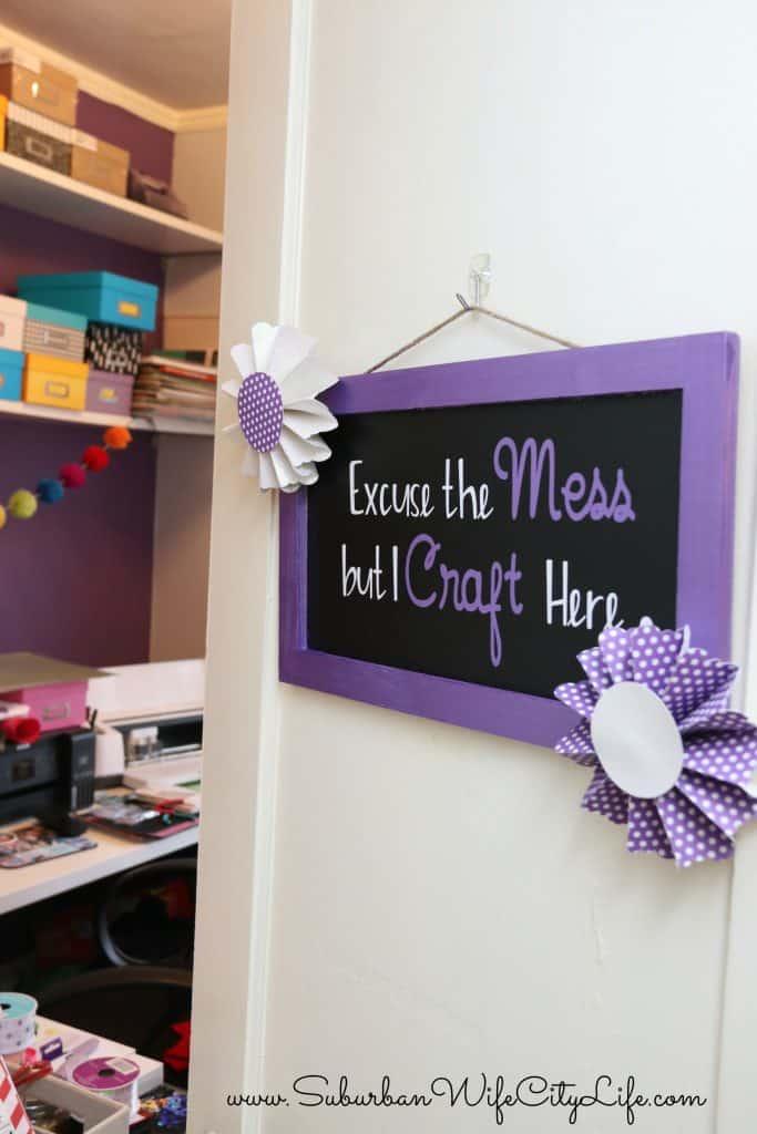 Craft Room Sign DIY