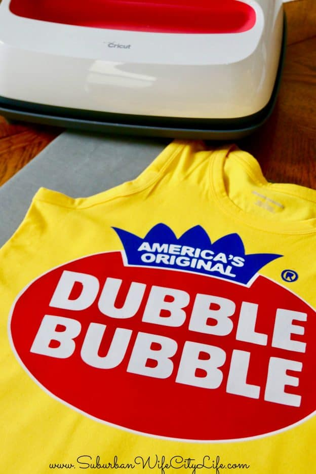 Double Bubble shirt with Cricut