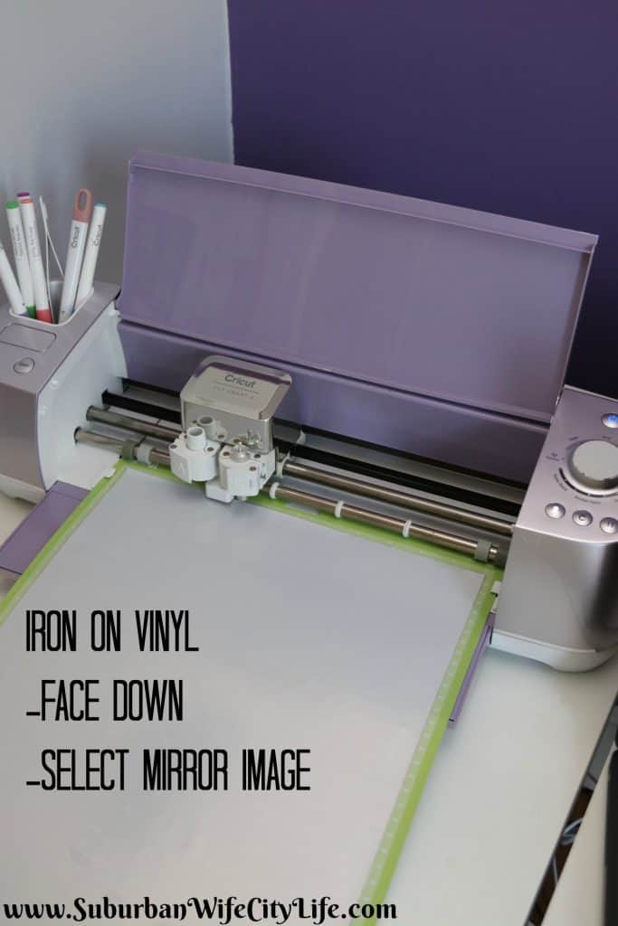 Iron on Vinyl Instructions with Cricut