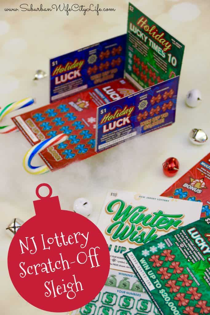 NJ Lottery Scratch Off Sleigh DIY
