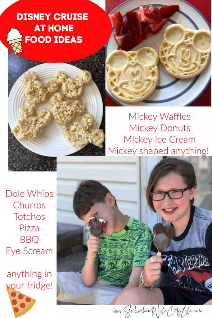 Disney Cruise at Home food ideas