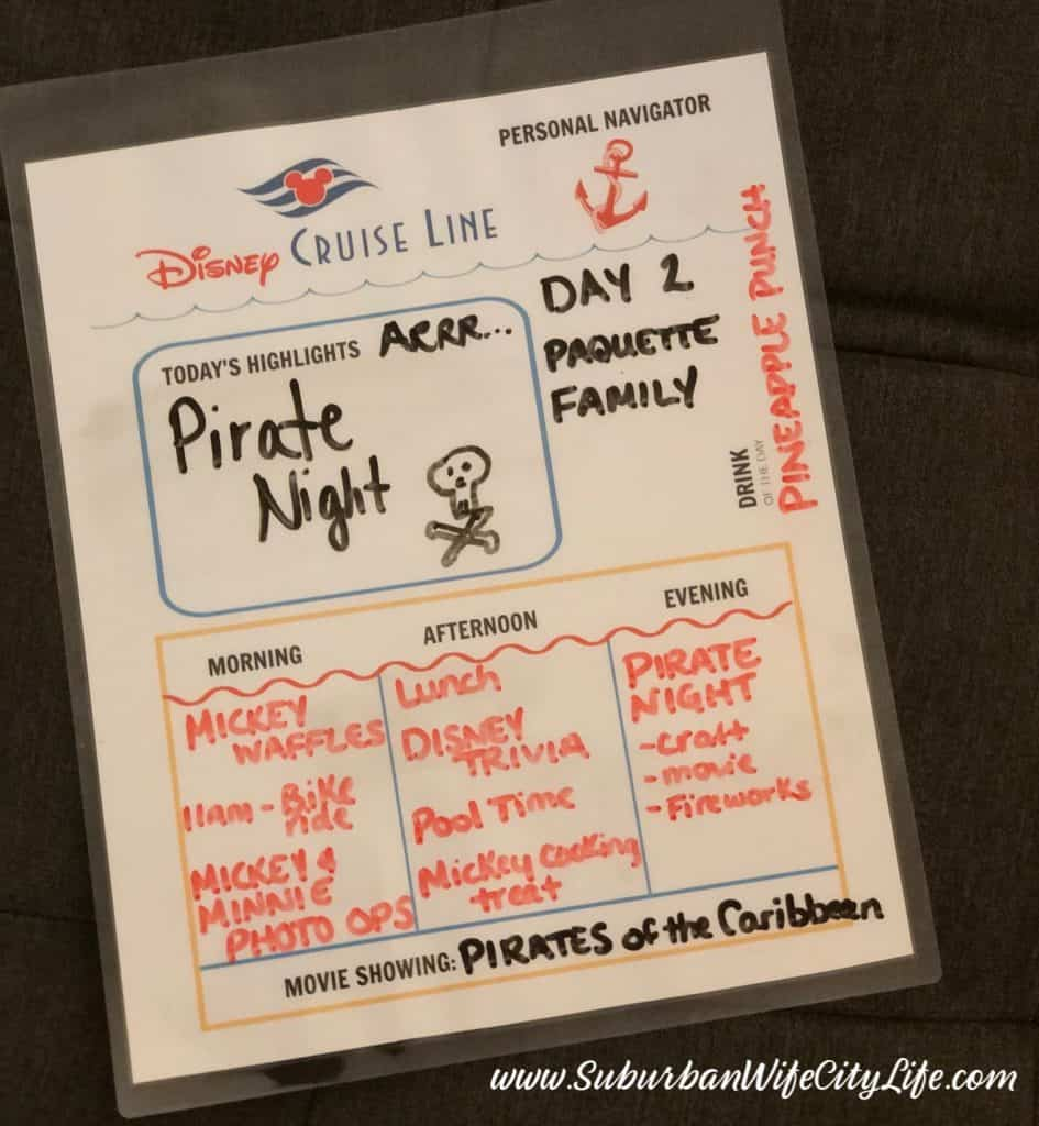 Disney Cruise at home Navigator