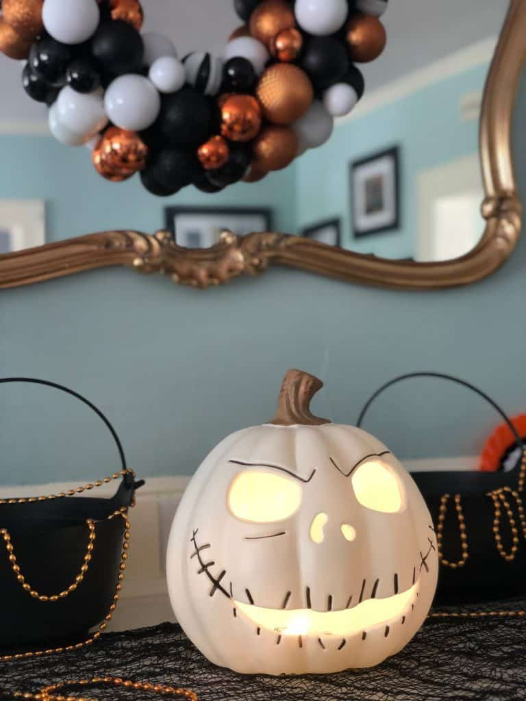 Party City Jack Skellington Light up Pumpkin