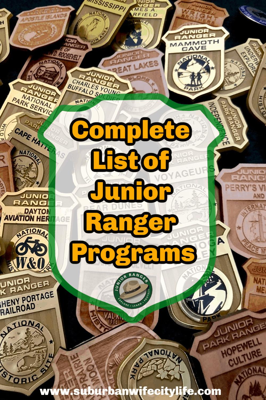 Complete List Junior Ranger Programs