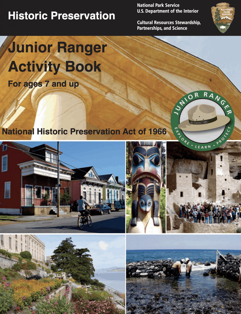 Junior Ranger Historic Preservation