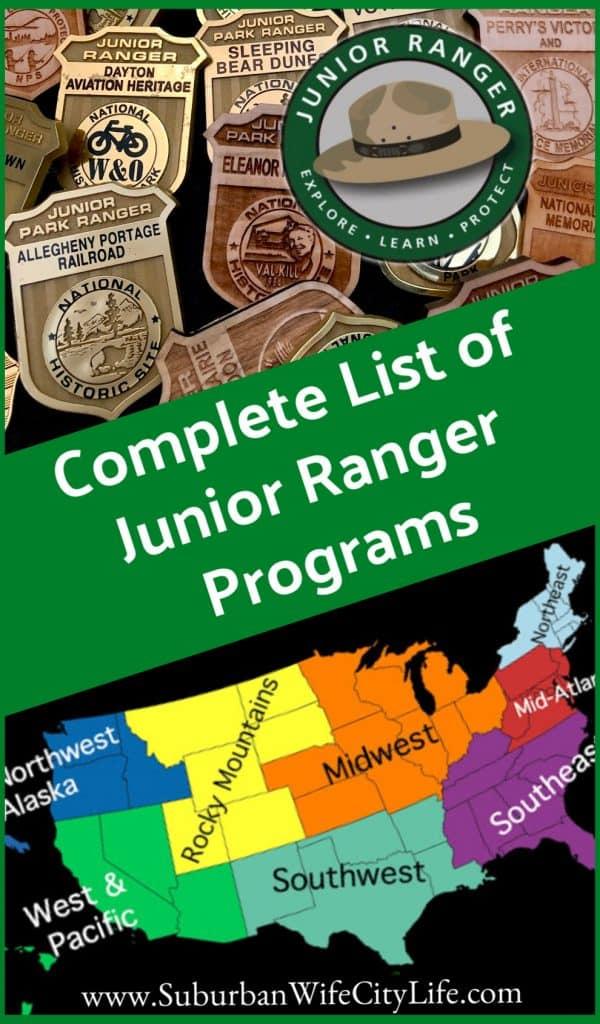 Junior Ranger Program Complete List