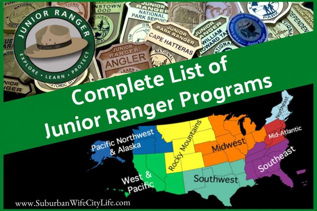 Junior Ranger Program Complete List Blog