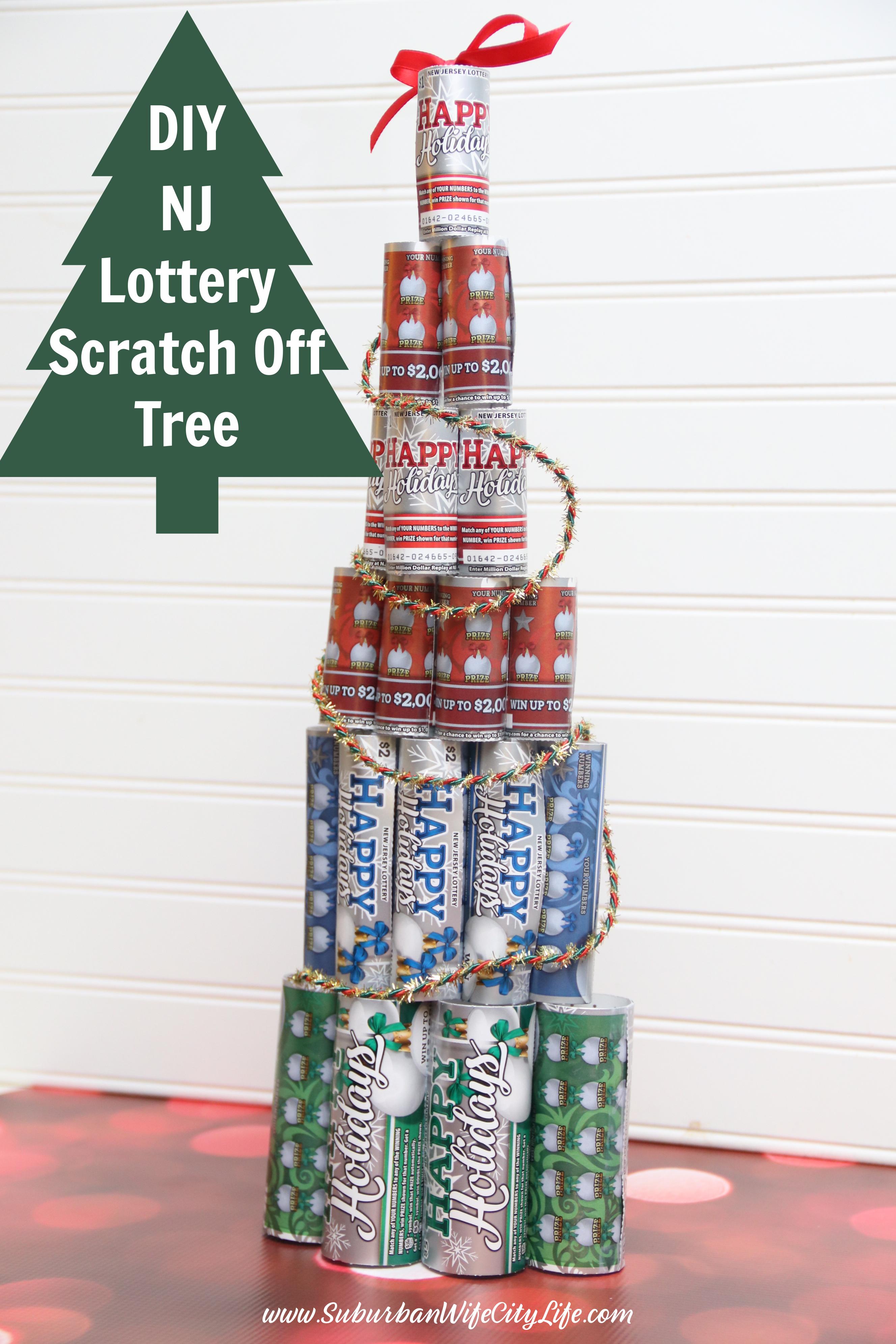 DIY NJ Lottery Scratch Off Tree